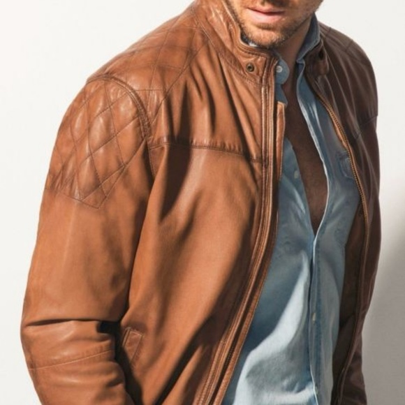 db2266629f0 Massimo Dutti Nappa Brown Leather Jacket. M 5a665d2e31a376168868f08c